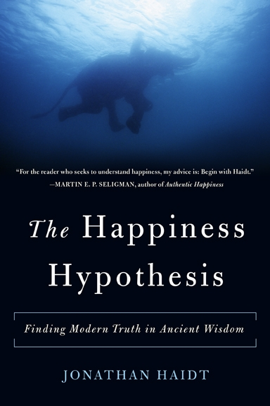 The happiness hypothesis by Jonathan Haidt book cover
